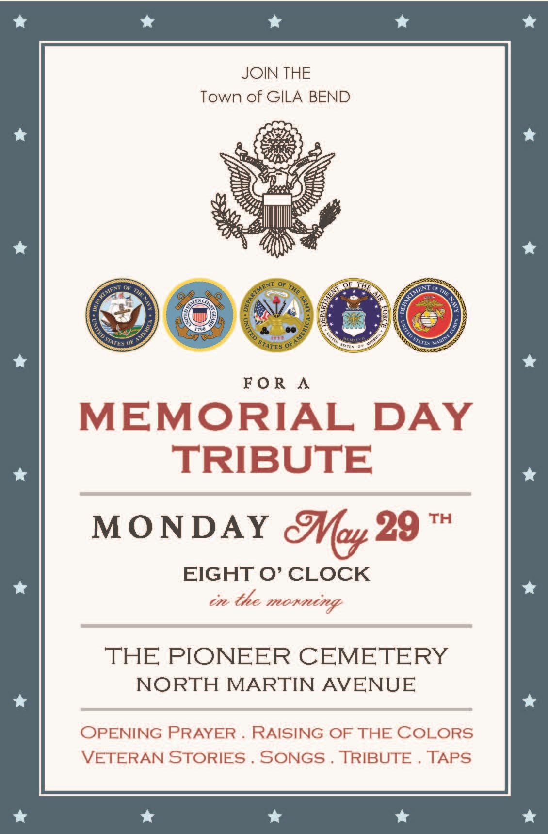 Memorial Day Tribute Invitation to Public