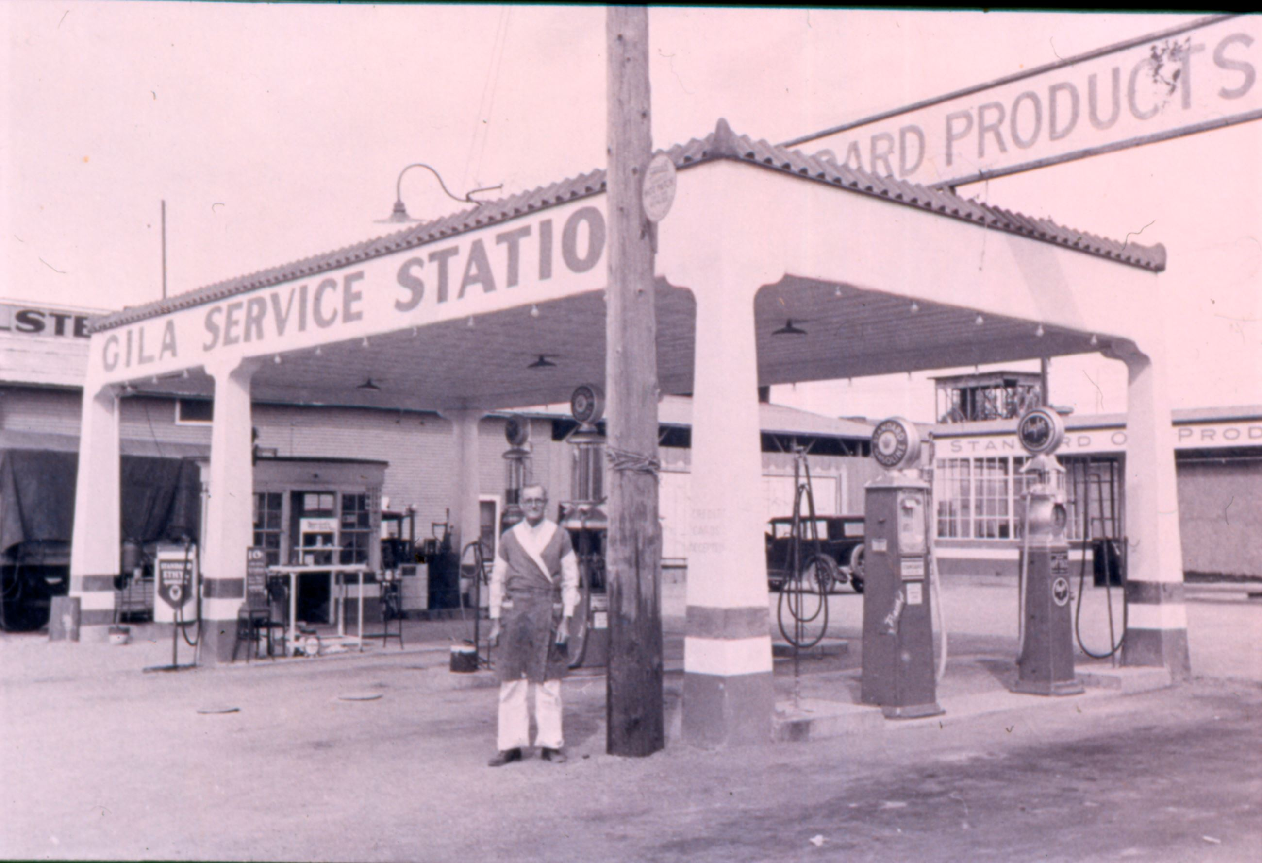 US 80, Gila Bend, Gila Station, 1930s Photo courtesy Dave Devine